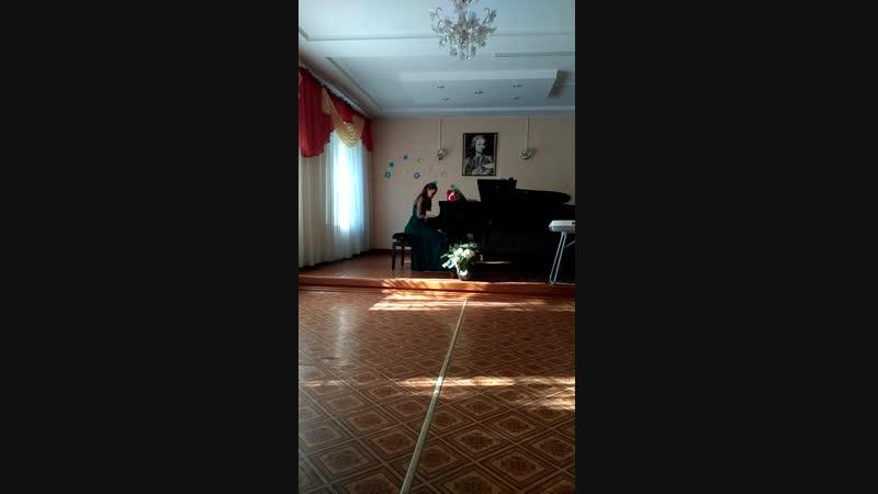 Гром Л Сольный концерт Кобылянский этюд ля минор