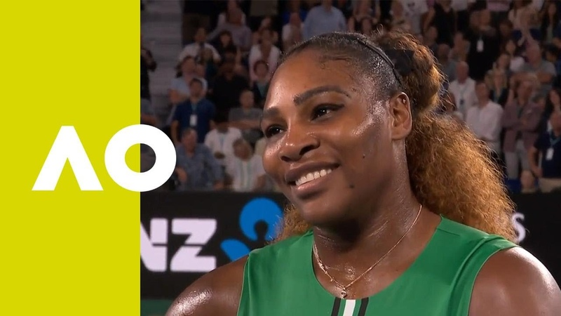 Serena Williams on-court interview (2R)   Australian Open 2019