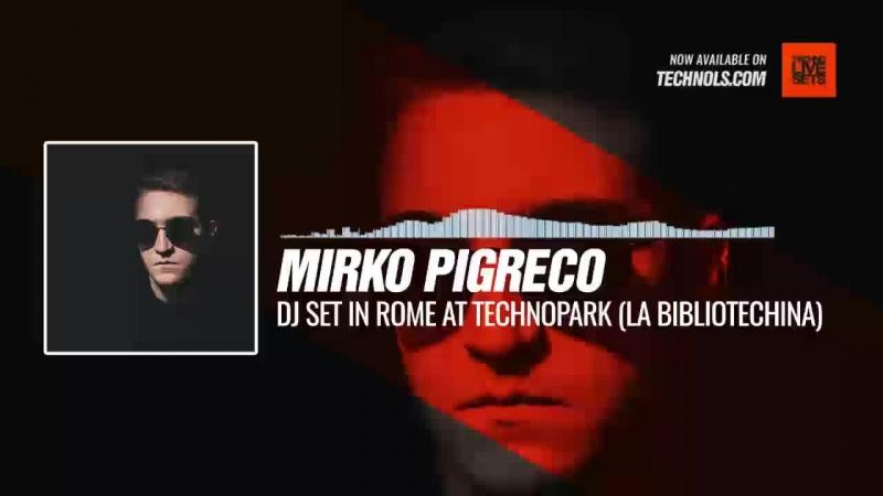 Mirko Pigreco - DJ Set in Rome at Technopark (La Bibliotechina) Periscope Techno music