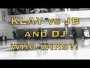 Klay Thompson vs Jordan Bell and Damian Jones from Warriors (1-0) practice, day before Utah Jazz