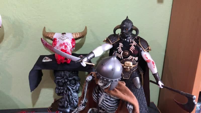 Diorama de Conan y Red Sonja