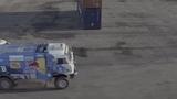 Nine-ton truck takes on drifting race in Saint Petersburg Kamaz Dakar Truck Drift vs Mazda RX-8