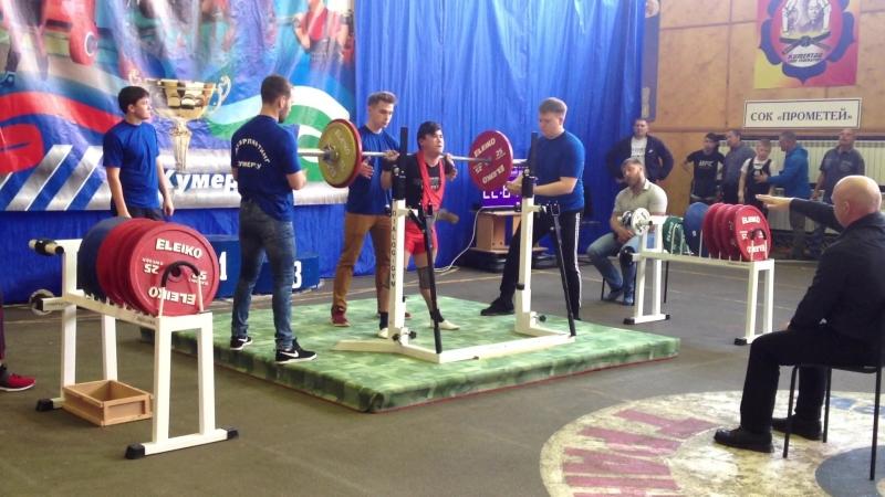 Алимгулов Линар присед 105 кг в вес кат до 53 кг среди юношей до 18 лет