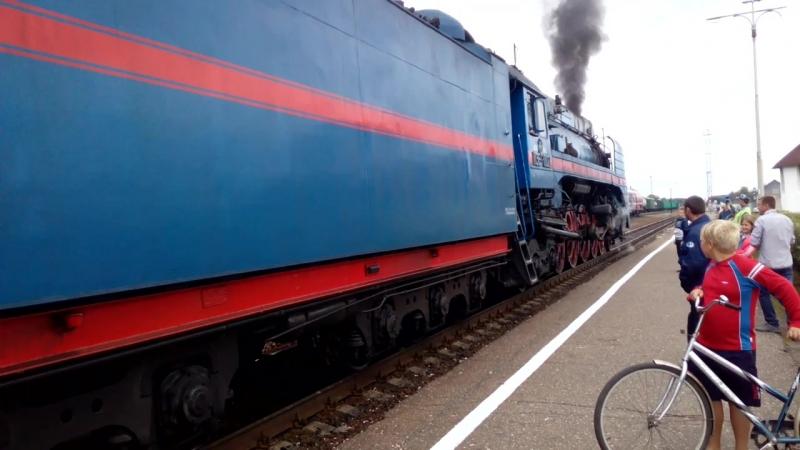 Отправление П36 со станции Кулой 17.08.2018