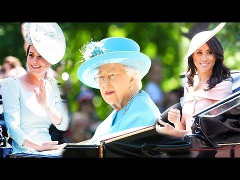 Парад Trooping the Colour в честь Елизаветы II - Кейт Миддлтон, Меган Маркл, Гарри, Уильям и др.