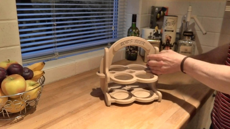 CNC Cut Beer Carrier Tote Caddy