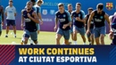 Work continues at the training ground