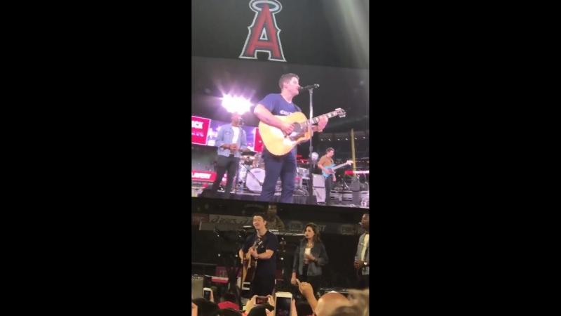 Nick Jonas performing Lovebug at Angel Stadium of Anaheim in Anaheim, CA | September 15th