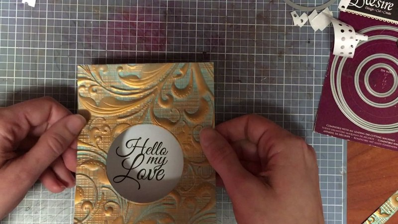 Card Making with Crafter's Companion 3D Embossing Folder