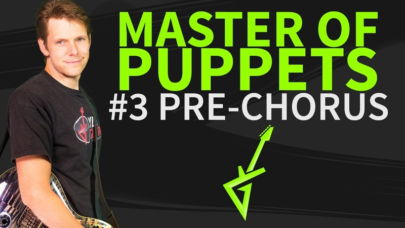 How To Play Master of Puppets Guitar Lesson 3 Pre-Chorus