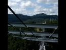 Чуть экстримчика продолжается на подвесном мосту в горах. Скайпарк Адлер-2018