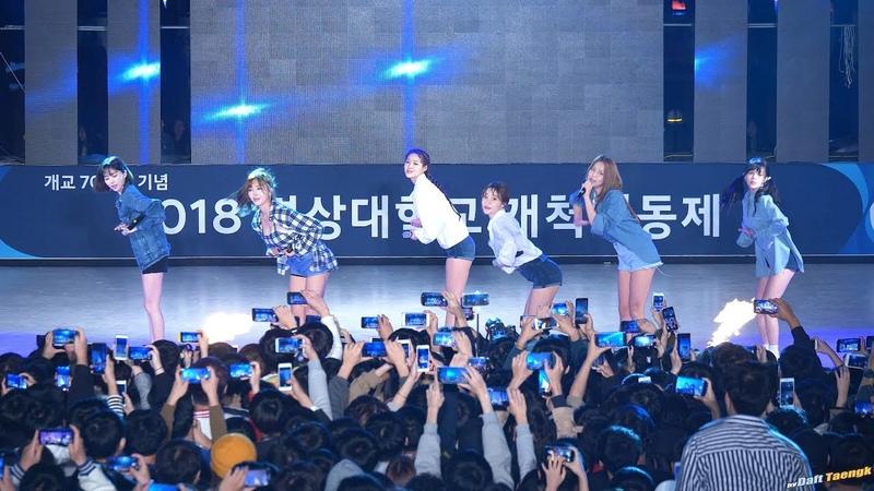 181017 AOA 에이오에이 '심쿵해 Heart Attack' 4K 직캠 @경상대 축제 by DaftTaengk