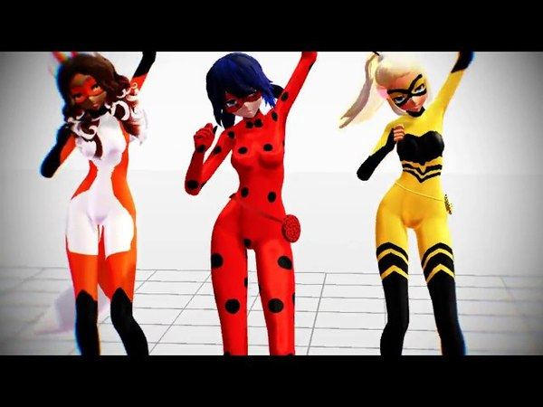 【MMD/Ladybug】Rena Ladybug and Queen B-【BOOMBAYAH】【Full Motion DL】