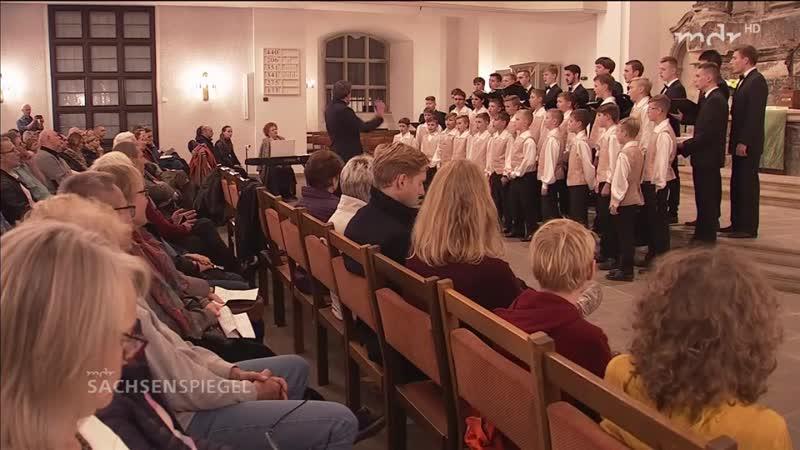 Beim Dresdner Knabenchor sind Sänger aus Russland zu Gast.