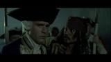 Джек Воробей предлагает свой план Командору Норрингтону. HD