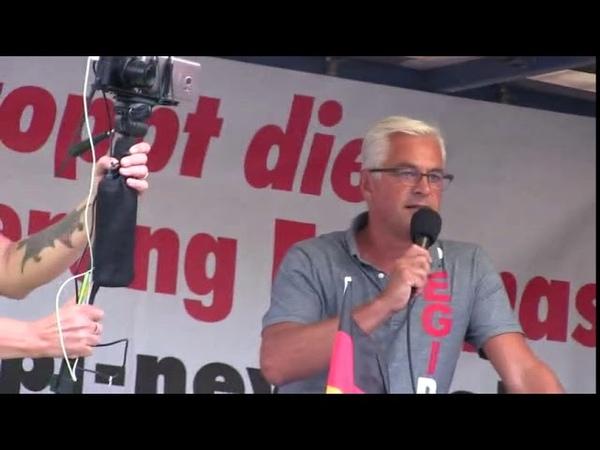 PEGIDA Dresden 20 08 2018 Wolfgang Taufkirch Wer die CSU wählt offene Grenzen und die Umvolkung