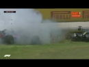 Гран-при Испании. Авария на старте гонки Формула 1 F1 2018