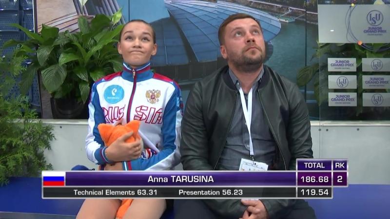 Anna Tarusina RUS Ladies Free Skating Bratislava 2018