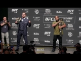 Stipe Miocic vs. Daniel Cormier UFC 226 Press Conference Staredown - MMA Fighting