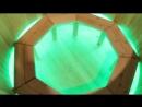 Подсветка в кедровой купели