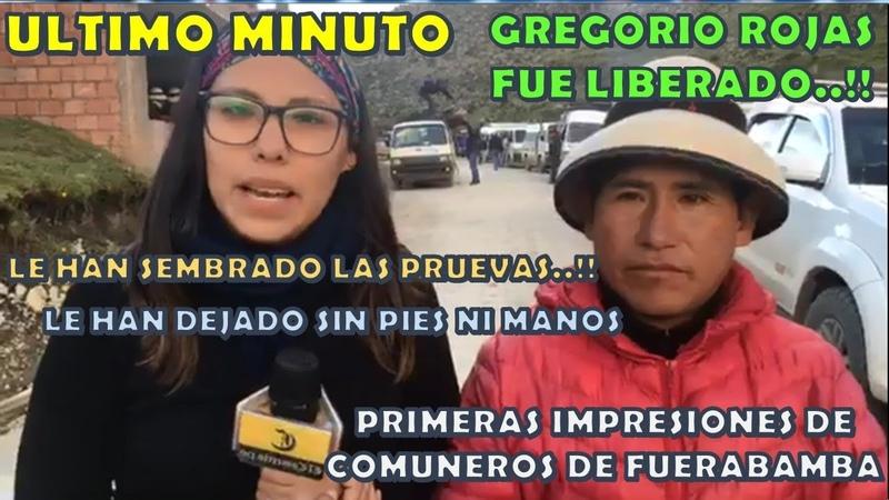 GREGORIO ROJAS : PRIMERAS IMPRESIONES DE COMUNEROS DE FUERABAMBA DEL FUNDO YAVI YAVI - APURIMAC