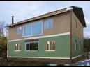 Строительство дома из СИП-панелей своими руками - готова крыша!
