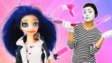 Marinette kisses Adrian on a date Makeup for dolls
