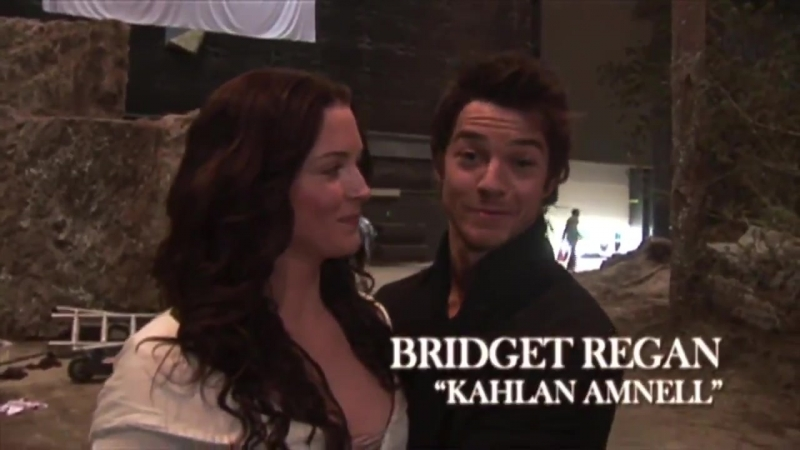 Some behind the scenes of Bridget Regan on set for Legend Of The Seeker in 2008!