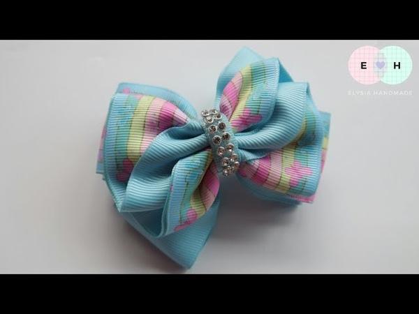 Laço De Fita 🎀 Ribbon Bow Tutorial 5 🎀 DIY by Elysia Handmade