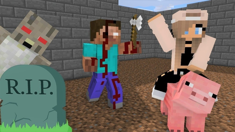 Monster School Herobrine DIES and becomes ZOMBIE pt 2 Horror Minecraft Animation