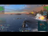 World of Warships - 180k урона и 4 фрага за 57 секунд!
