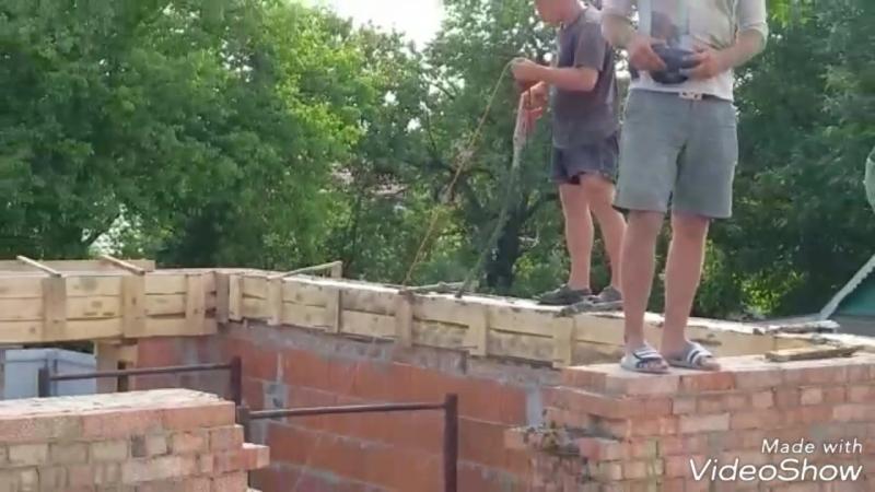 Армопояс 68 8 метров 5 5 кубов бетона М300