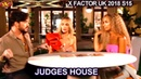 Judges Deliberation Leona Lewis Adam Lambert Ayda Field The Overs Judges House X Factor UK 2018