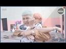 [Русская озвучка by Cara Linne][BANGTAN BOMB]Stretching Time before Dance scene @ 'FIRE' MV - BTS