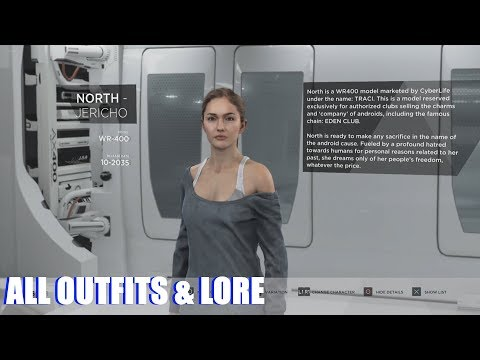 Detroit Become Human All Outfits Character Lore Unlocked Extras PS4 Pro