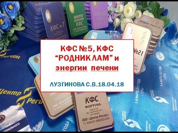 КФС №5, КФС Родник Лам и энергии печени. Лузгинова С.В. 18.04.18