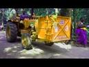 Tractor extreme shuttling . steep road sabarimala