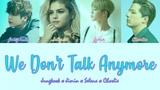 BTS (Jimin x Jungkook) x Selena x Charlie - We Don't Talk Anymore (Color Coded LyricsEng)