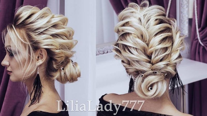 Текстурный пучок в технике двойного жгута.Beautiful Hairstyles 2018