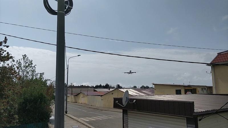 A340 landing in AER