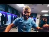 Manchester City Dressing room celebrations Aguero dancing - Laporte.mp4