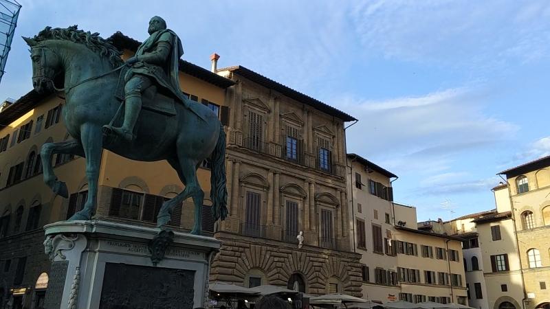Firenze. I balli alla piazza della Signoria.