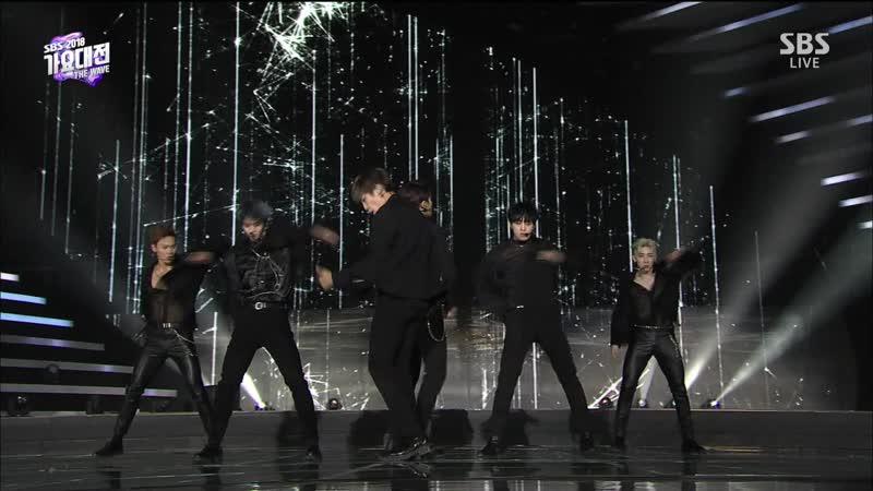 [Special Stage] 181225 Shownu (셔누), Wonho (원호), Hoshi (호시), Mingyu (민규), Woojin (우진) Jinyoung (진영) - Again Again (2PM)