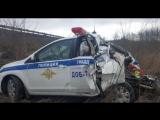 Фура без тормозов протаранила автомобиль ДПС на трассе «Дон»