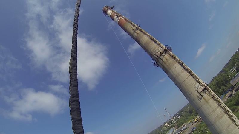 Прыжки с 88 метровой Трубы с командой RAPT - Сергей