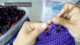 Bolso Tejido a Crochet En Punto Espiral Con PerlasLA LUNA DEL CROCHET