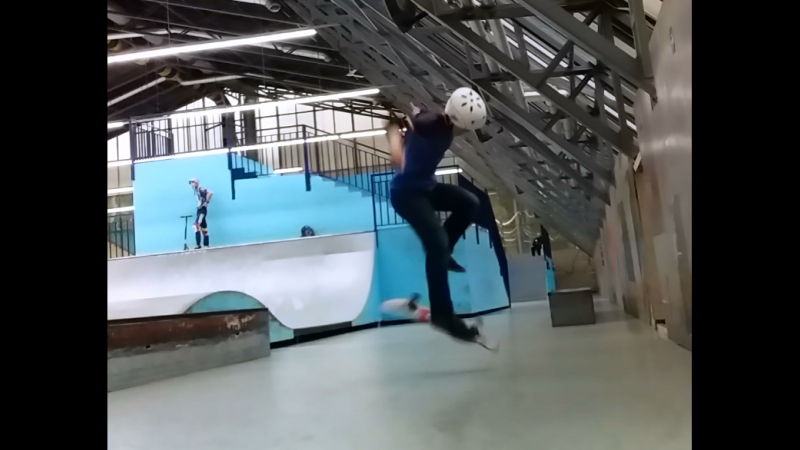 Ramses on skate - switch pressure hardflip 12.10.2018