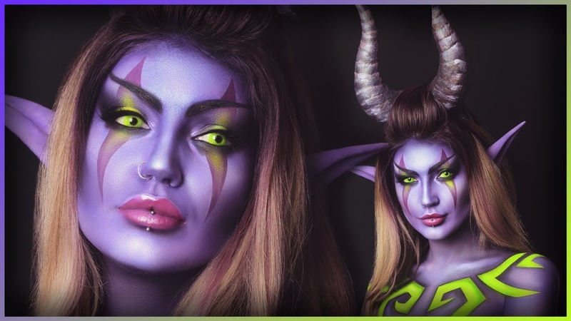 Night Elf Demon Hunter World of Warcraft CosplayBodypaint | Djarii