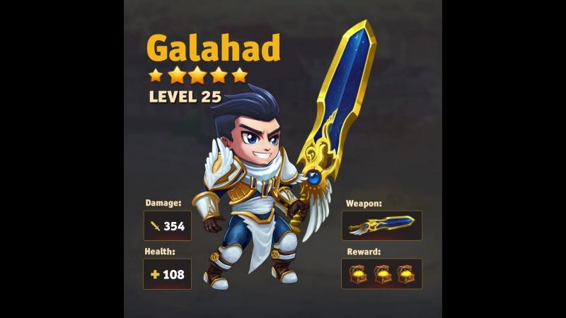 HERO WARS HERO STATS ANIMATION-GALAHAD » Freewka.com - Смотреть онлайн в хорощем качестве