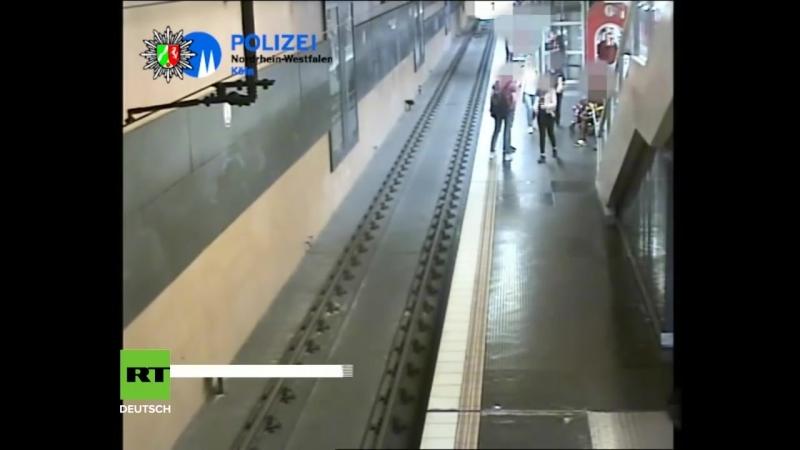 Fremden Mann einfach auf die Gleise gestoßen – Kölner Polizei sucht mit Video nach U-Bahn-Schubser